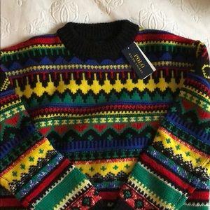 Polo Ralph Lauren multi color sweater